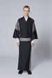 きもの / 十日町紬 / 絣 / Black(With tailoring)