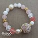 【再販!】048. power stone jewelry bracelet -pink-