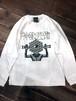 『超SHINGANKUN』Long sleeve T-shirt (White)