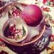 ピータープリース手工芸社 クリスマスガラスオーナメント サンタクロースD