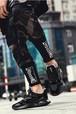 メンズ 暖かスニーカー ウィンターシューズ ブラック