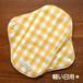 布ナプキン (軽い日用) ☆ オレンジ大チェック柄