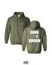 """DAWN OF SORROW"" MILITARY GREEN HOODED SWEATSHIRT"