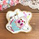 「空中ブランコ乗りのナマケモノくん」刺繍ブローチ