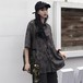 【トップス】POLOネックシングルブレストストリート系プリントシャツ21879916