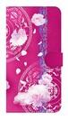 【鏡付き Lサイズ】Peony Dream 芍薬の夢 フューシャピンク 手帳型スマホケース