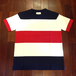 FIDELITY / フィデリティー | WIDE BORDER TEE - White/Navy/Red