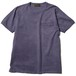 DIA STITCH PKT TEE (DYED PURPLE) / RUDE GALLERY BLACK REBEL