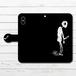 #024-001 手帳型iPhoneケース 手帳型スマホケース 全機種対応 iPhoneXS/X 病み メンヘラ Xperia iPhone5/6/6s/7/8 病みかわいい ダーク Galaxy ARROWS AQUOS HUAWEI Zenfone タイトル:棒人間さん~パターン1~ 作:チノリ