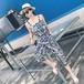 【お取り寄せ】 オールインワン ビーチ ビーチウェア リゾート ボヘミアン ワイドパンツ バケーション