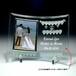 フォトスタンド_ブライダル【ジュエリーチャーム 】商品ID:FS-0067            曲ガラス アクリルスタンド付 ギフト包装無料 送料別途(サイズ60)