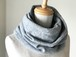 温度を纏う 純カシミヤのふわふわリバーシブルねじりスヌード Gray/Charcoal