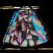 アフリカ柄ミニスカート(羽カラフル)