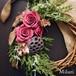 真っ赤なバラのクリスマスハーフリース