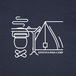 キャンプ2 Tシャツ/ネイビー【CWE-086NV】