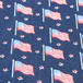 Flags pattern fabric
