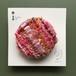 ひょうたんカフェのるり織りブローチ <NO.3…ピンク・レッド系>