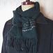 ツリーを織り込んだふんわりカシミヤのミニ手織りマフラー