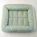 手作り猫ベッド 小花柄ブルー