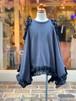 KIDS:nunuforme【ヌヌフォルム】フリルドレープT(Charcoal/95〜145cm)Tシャツ