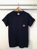 【T-Shirt】柴田聡子 / 柿ピー犬ポケットTシャツ(紺)