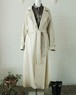 80's python pattern white coat