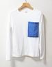 藍染め半袖 綿 Tシャツ L レディース レース(APT-2)