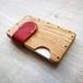 a card case  オーク×レッド 無垢材と本革の名刺入れ | 木で作ったナチュラルでおしゃれな名刺入れ tackle wood design