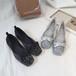 フラットパンプス ラメ グリッター リボン 韓国ファッション レディース ぺたんこ パンプス ラウンドトゥ ローヒール キュート 痛くない かわいい 歩きやすい 573265050669
