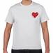 TONYBAND Tシャツ(白) ロゴ赤2(小)