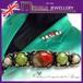 英国 MIRACLE★重厚 マルチカラー カボッションガラス ケルティック バーブローチ 1960s スコティッシュ
