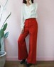 70s red highrise wide pants