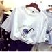 オシャレ可愛いロゴTシャツ 韓国オルチャン*M
