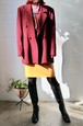 burgundy wool dubble button jacket