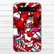 #070-010 モバイルバッテリー ゆめかわいい ロック パンク ポップ iphone スマホ 充電器 タイトル:HEAVEN HEART 作:プラネ