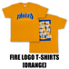 FIRE LOGO T-SHIRTS[ORANGE]