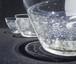 麻炭ガラス・深小鉢「さざなみ」