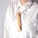 ヌメ革(生成り)の首かけペンホルダー【1 / いち】#手縫い #オールレザー #刻印可