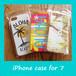 ハワイアン スマホケース for iPhone7 (Aloha)