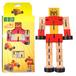 木製変形ロボットフィギュア