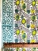 【NEW】Block print  黄と緑の果実柄