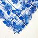 スカーフ「Beautiful blue season | 紫陽花・ブルー」 ( 大判サイズ・コットン )