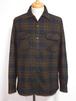 1950's PENDLETON ボックスウールシャツ チャコールグレー×ブラウン 表記(M) ペンドルトン