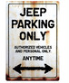 JEEP Parking Onlyサインボード