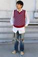 Diamond Pattern Knit Vest