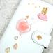 手帳型スマホケース『小さなバレリーナと雲の上の城』-ゆきどけピンク- 耐水素材