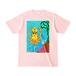 【グッズ】送料込「だべイカ」Tシャツ [色:ライトピンク]