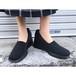 black stretch design sandal [B844]