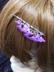 枝垂れヘアピン 紫