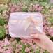 Satin ribbon pouch